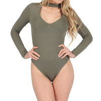 Women Long Sleeve Jumpsuit Women's Sexy  Autumn Halter Knitted Bodycorn Playsuits  Plunge V Neck Female Body Jumpers H1
