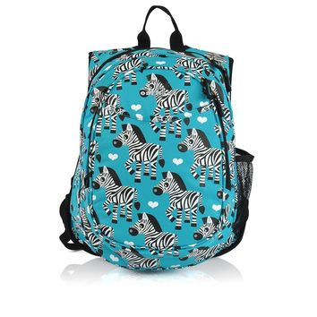 Obersee Kids Pre-School All-In-One Backpack With Cooler - Zebra