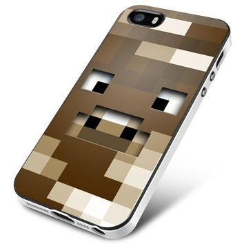 Minecraft Game Wood Face iPhone 5 | 5S | 5SE Case Planetscase.com