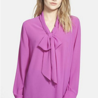 Bow Front Blouse by Glamorous