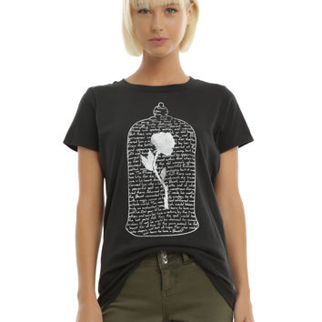 Disney Beauty And The Beast Enchanted Rose Girls T-Shirt