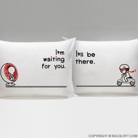 Love is on the Way™ His & Hers Couple Pillowcase Set