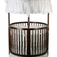 Dream On Me Sophia Posh Circular Crib in Espresso - 669-E - Furniture