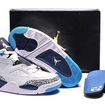 Cheap Air Jordan Son Of Mars Low Shoes White Grey Blue