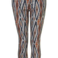 MOTO Ikat Print Crop Jeans - Sale  - Sale & Offers