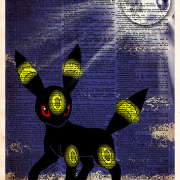 Pokemon Umbreon art, Umbreon pokemon, Pokemon art print