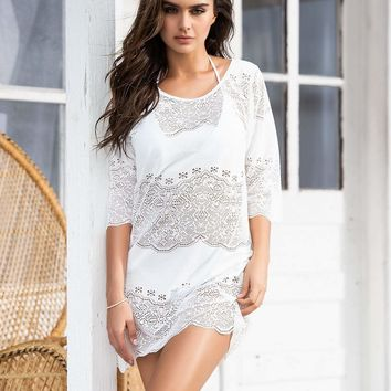 Heavenly White Dress Cover Up