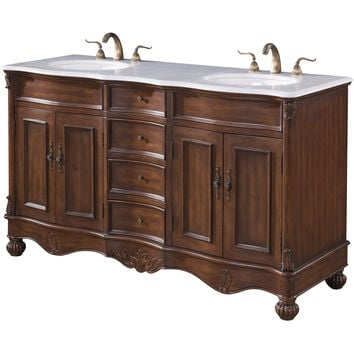 "Windsor 60"" Double Bathroom Vanity Set"