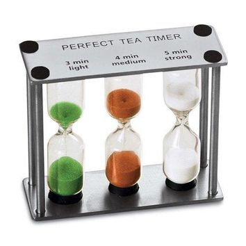 Lily's Home Perfect Tea Timer Three-In-One 3-4-5 Minute Sand Hourglass Timers