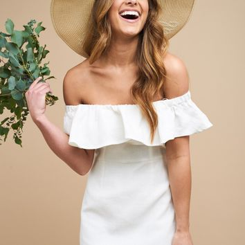 Down the Aisle Dress-White