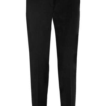 Pallas - Antigone satin-trimmed wool-gabardine tapered pants