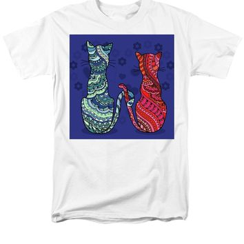 Cat Lovers - Men's T-Shirt  (Regular Fit)