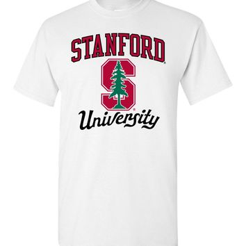 Official NCAA Stanford University Cardinal SU The Stanford Tree ALL RIGHT NOW! Short-Sleeve T-Shirt - stan1008