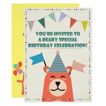 Beary Special Birthday Boy Invitation