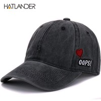 Cotton baseball caps outdoor sports hats snap back curved dad hat washed cap for men women