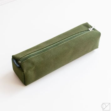 DELFONICS Marek Box Pencil Case Olive