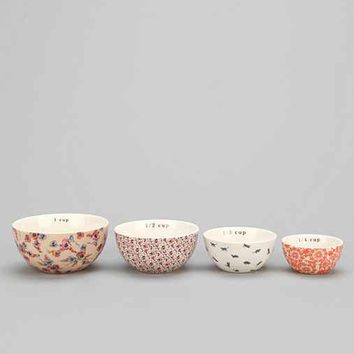 Plum & Bow Patterned Measuring Cups Set