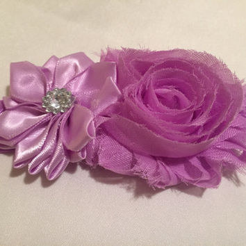 Jeweled Flower and Rose Headband for Girls