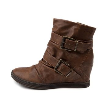 Womens Blowfish Tugo Wedge Boot, Tan | Journeys Shoes