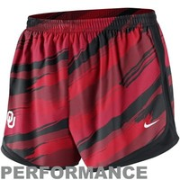 Nike Oklahoma Sooners Ladies Seasonal Painter Performance Shorts - Crimson