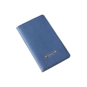 DCCKU62 Utility Travel Accessories Fashion Women Bifold Travel Passport Holder PU Leather Anti Skimming Men Passport Cover
