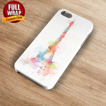 Colorful Eiffel Tower Full Wrap Phone Case For iPhone, iPod, Samsung, Sony, HTC, Nexus, LG, and Blackberry