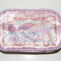 2013 Pokemon Center Original Sylveon Square Pouch Case from Japan Nymphia eevee