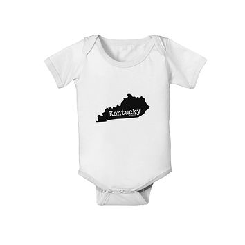 Kentucky - United States Shape Baby Romper Bodysuit by TooLoud