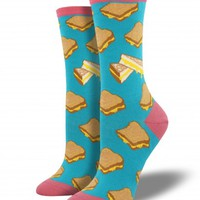 Find Graphic Printed Womens Grilled Cheese Fun Socks | Socksmith