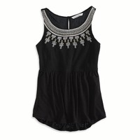 AEO Women's Gauzy Embroide