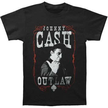 Johnny Cash Men's  Outlaw T-shirt Black