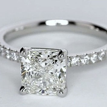 1.26ct Princess Cut Diamond Engagement Ring F-VS2  JEWELFORME BLUE GIA certified