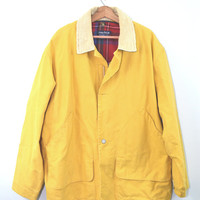 Vintage Nautica Jacket Nautical Jacket Fishermans Jacket Yellow Jacket Men's Polo Sport Jacket Yacht Sailing Jacket Wool Coat XL Tall