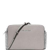Michael Michael Kors Jet Set Travel Large Crossbody Bag, Pearl Gray LAVELIQ