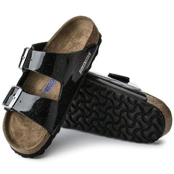 Sale Birkenstock Arizona Soft Footbed Birko Flor Magic Galaxy Black 57633 Sandals