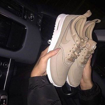 simpleclothesv :Nike Air Max Thea Premium Desert Camo Casual Sports Shoes