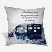 Tardis Doctor Who Smoke Quote Pillow Case