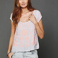 Free People Clothing Boutique > Embroidered Short Sleeve Top