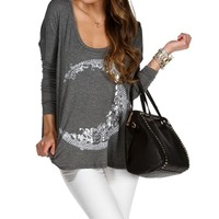 Charcoal Celestial Dolman Top