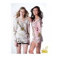 2014 Realtree Girl Pink and Snow Camo Dream Henley Set