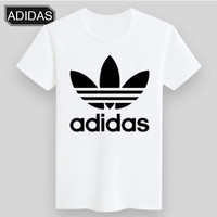 ADIDAS & NIKE United Men and Women Trendy Short Sleeve ADIDAS