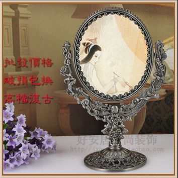 double face with 360degree rotating home decoration makeup mirror frame decorative mirror frame mirrors wedding decorative J027L