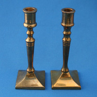 Mini Brass Candlestick Candle Holders Colonial Style Set of 2