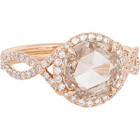 Rose-Cut Champagne Diamond & Rose Gold Ring