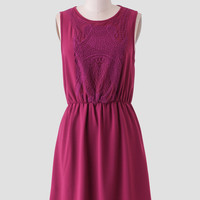 Mulberry Embroidered Dress