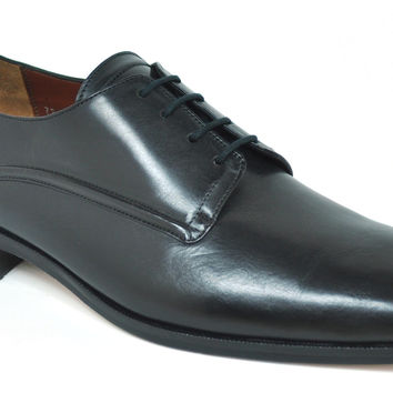 Gavel Men's Calfskin Leather Black Square Toe Dress Shoe 6117