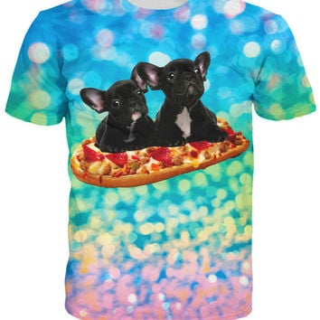 Frenchie Bread Pizza T-Shirt