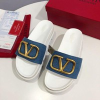 DCCK Valentino Women's Leather Fashion Sandals