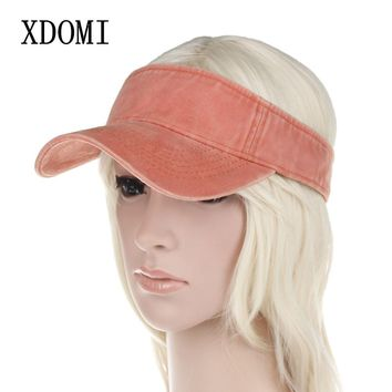 XDOMI Spring Summer Women's Sun Visor Hat Adjustable Wide Brim Visor Hat Fashion Casual Beach Caps for Women/Girls