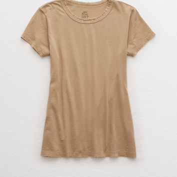 Aerie Real Soft® Tee, Dark Tan